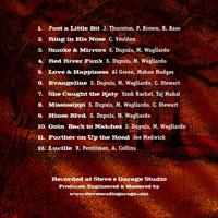Primeaux Blues Band CD Song List - Click for larger image!